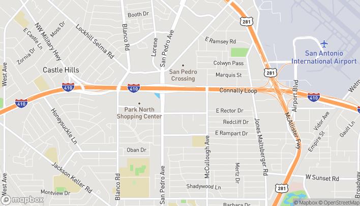 Mapa de 7400 San Pedro Avenue en San Antonio
