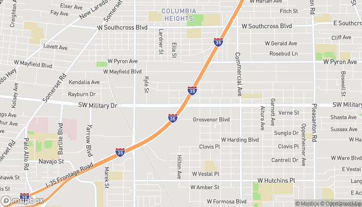 Mapa de 7023 Ih-35 S en San Antonio