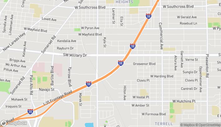 Mapa de 2310 SW Military Dr en San Antonio