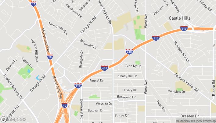 Mapa de 2639 NW Loop 410 en San Antonio