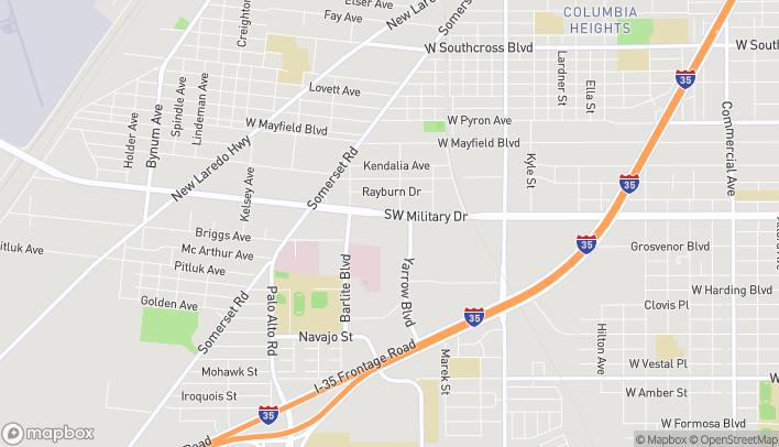 Mapa de 2814 SW Military en San Antonio