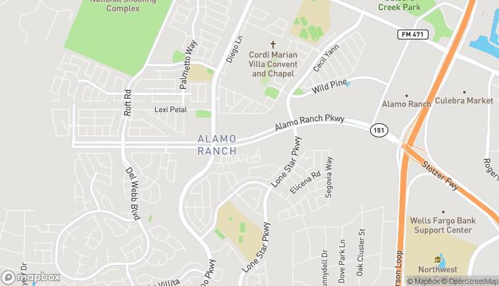 Mapa de 11911 Alamo Ranch Pkwy en San Antonio