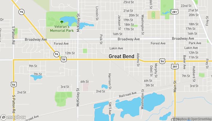 Mapa de 3407 10th St en Great Bend