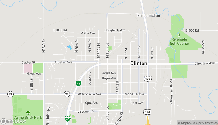 Map of 1221 W Gary Blvd in Clinton