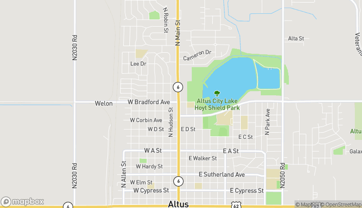 Mapa de 1322 N Main St en Altus