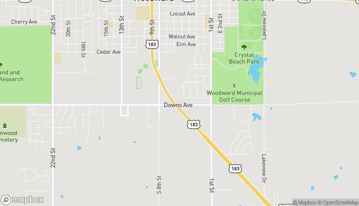 Mapa de 2728 Williams Avenue en Woodward