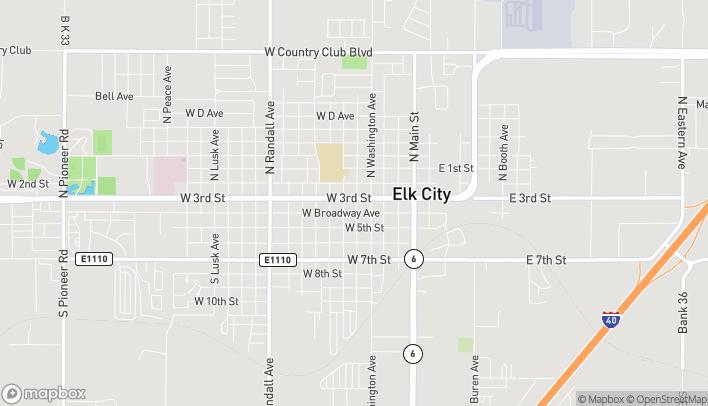 Map of 502 West 3rd in Elk City