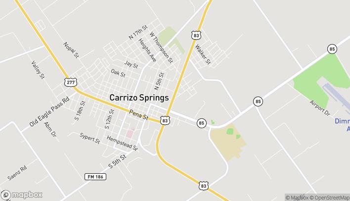 Mapa de 509 N 1st St en Carrizo Springs
