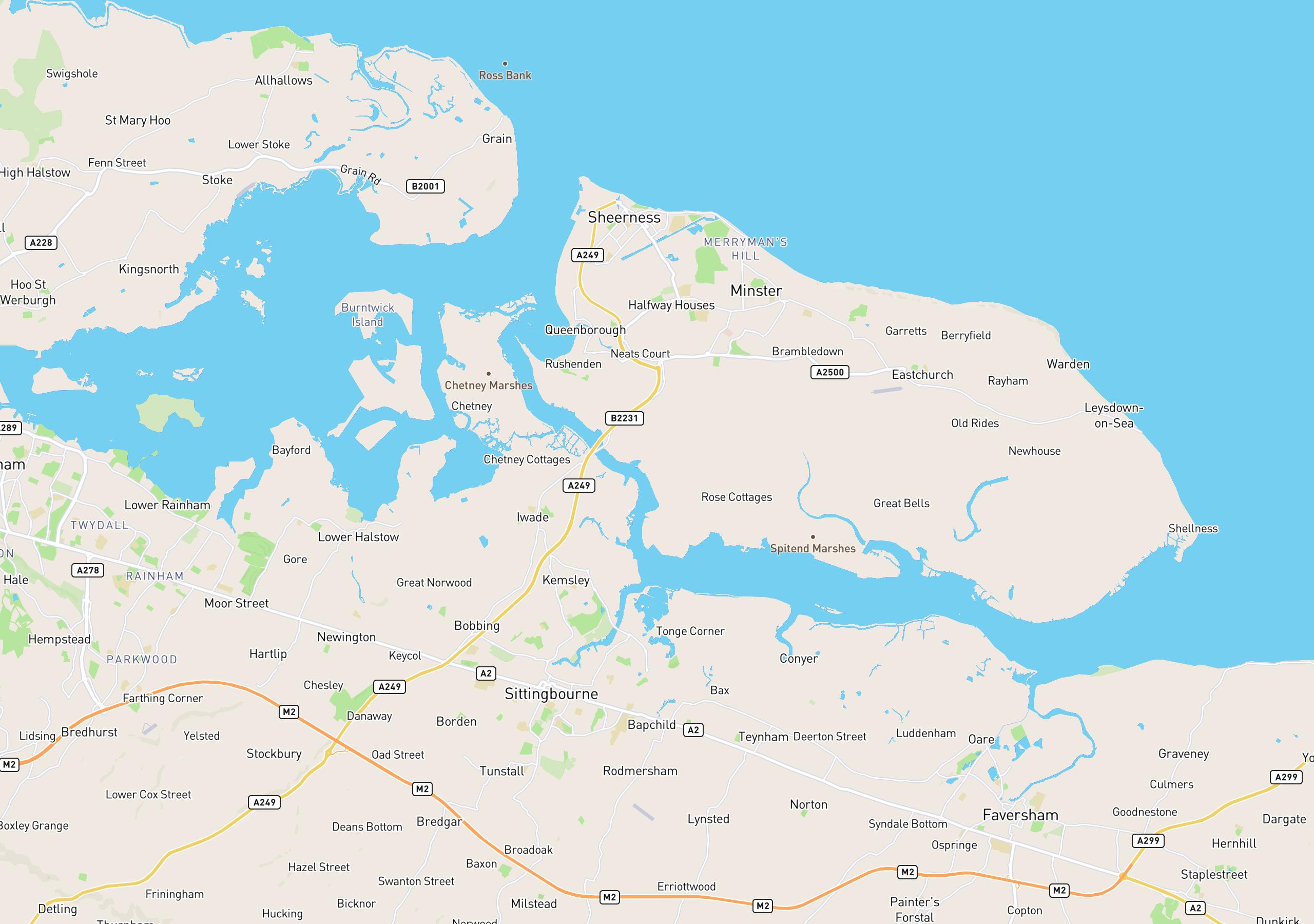 Map of club venues