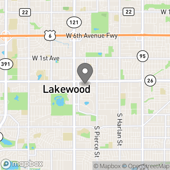 Map in Denver, Colorado for Maire Daugharty therapy location.