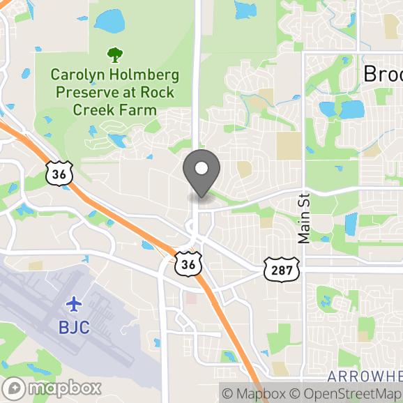 Map in Broomfield, Colorado for Anna Khandrueva therapy location.