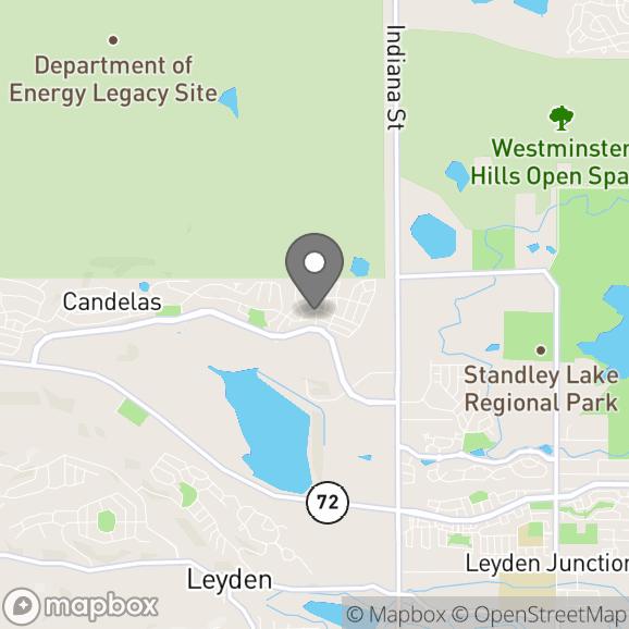 Map in Arvada, Colorado for Teresa Coen therapy location.