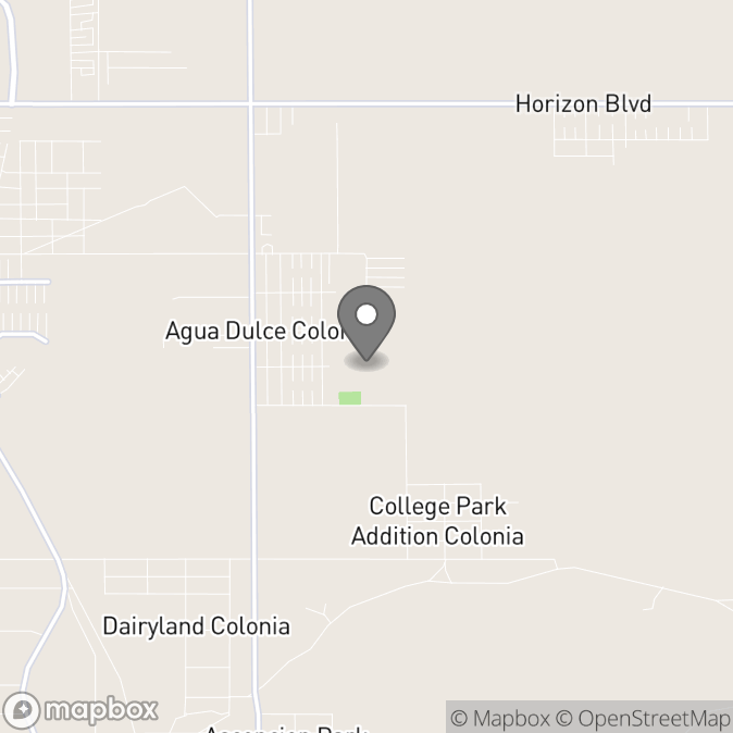 Map in El Paso, Texas for Alexis McCray, MA, LPC-A Supervised by Shawna Munson, MA, LPC-S therapy location.