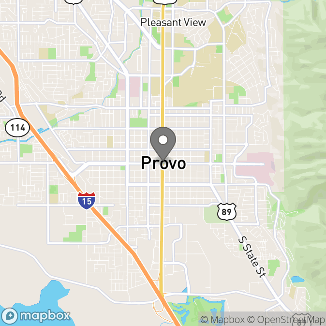 Map in Provo, Utah for Joshua Cooke therapy location.