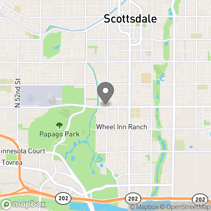 Map in Scottsdale, Arizona for Leslie Sherlin, PhD therapy location.