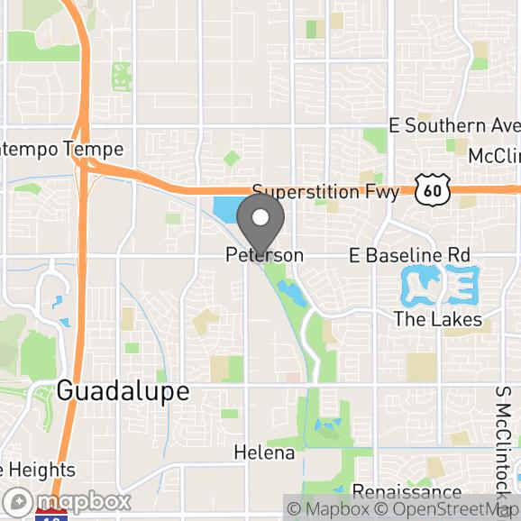 Map in Tempe, Arizona for Jaime Castillo therapy location.