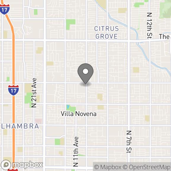 Map in Phoenix, Arizona for Jeremy Scataglini therapy location.