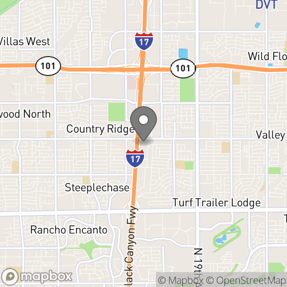 Map in Phoenix, Arizona for Kathleen Hearne therapy location.
