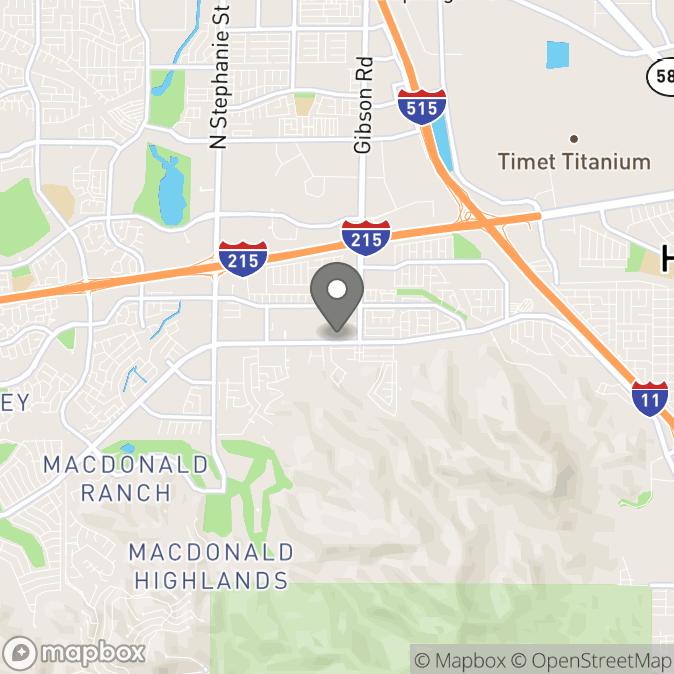 Map in Henderson, Nevada for Lincon Silva therapy location.