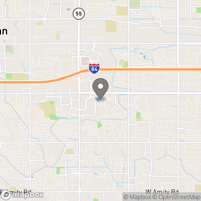 Map in Meridian, Idaho for Yanet Nunez therapy location.