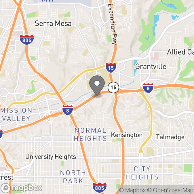 Map in San Diego, California for Faride Herran therapy location.
