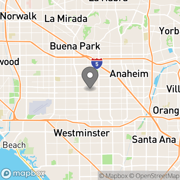 Map in Riverside, California for Heather Torres therapy location.