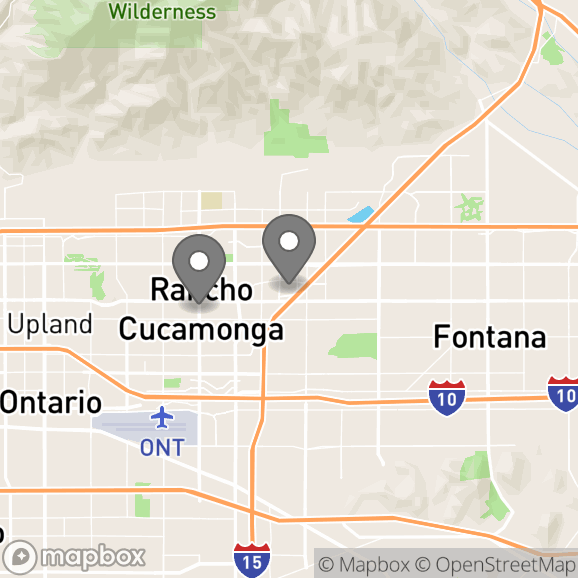 Map in Rancho Cucamonga, California for Johana  M. de Oca therapy location.