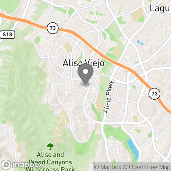 Map in Aliso Viejo, California for Alexandra  Fassi therapy location.