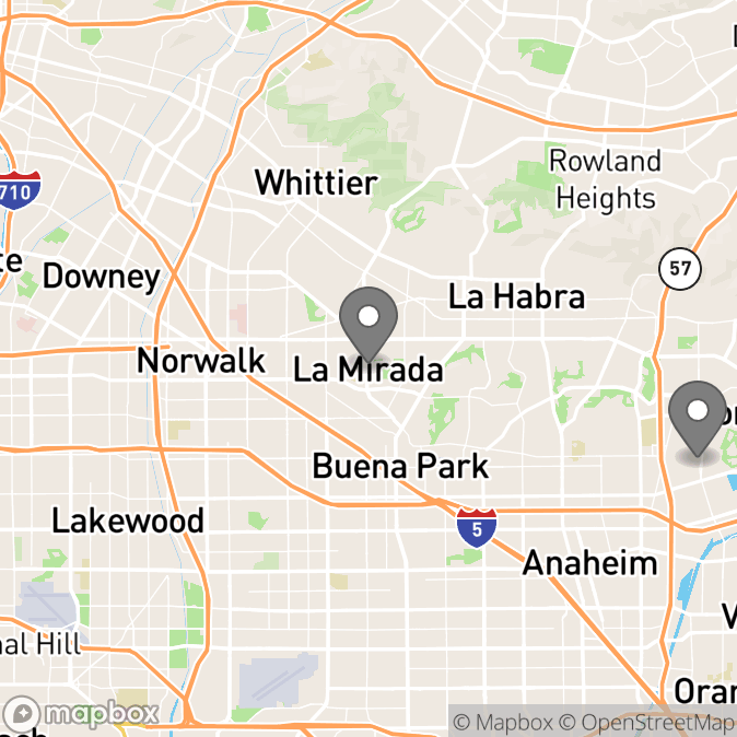 Map in La Mirada, California for MARIO NAVA therapy location.