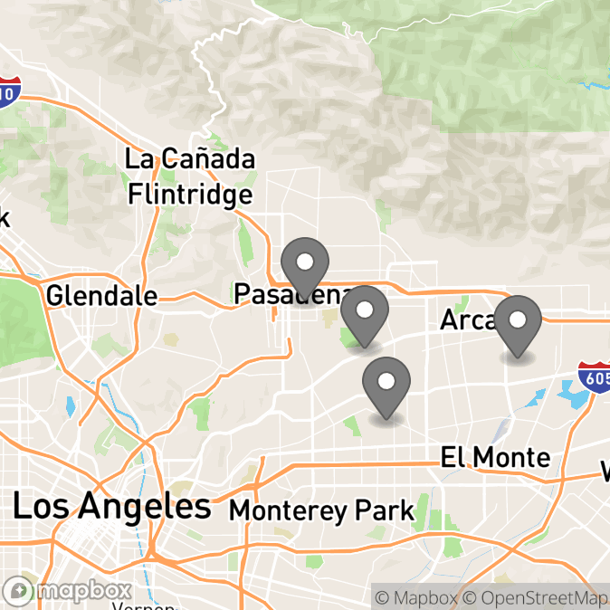 Map in San Gabriel, California for Jennifer Hsia therapy location.