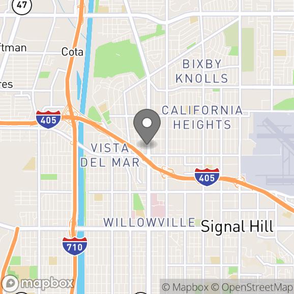 Map in Long Beach, California for Codi Benologa therapy location.
