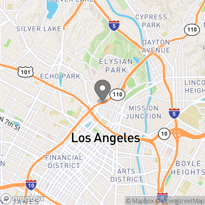 Map in Los Angeles, California for Dr. Carissa Gustafson therapy location.