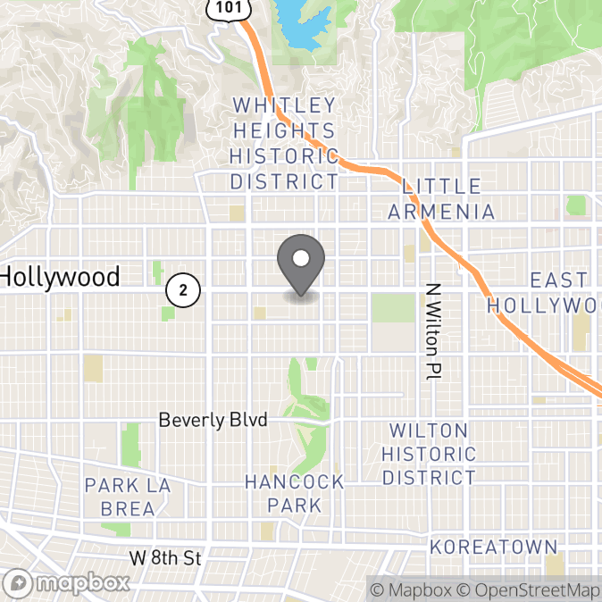 Map in Los Angeles, California for Jason Shoemaker therapy location.
