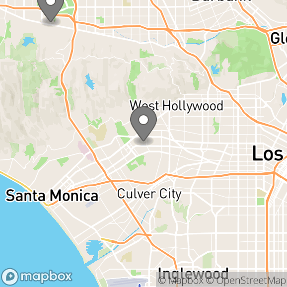 Map in Beverly Hills, California for Eliana Kohanzad therapy location.