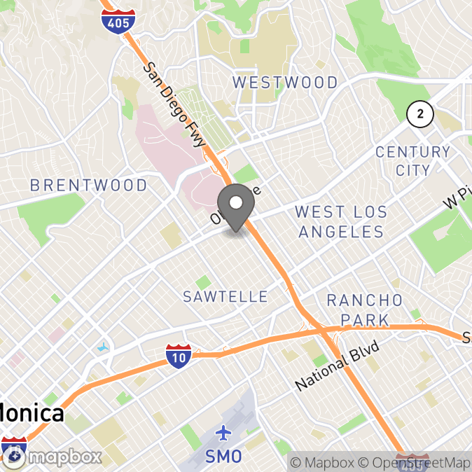 Map in Los Angeles, California for Kimberly Benning therapy location.