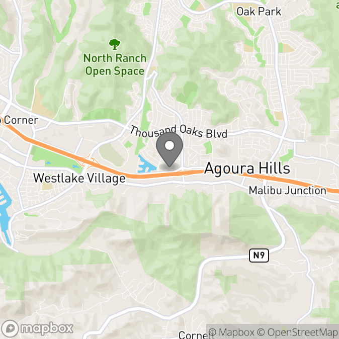 Map in Agoura Hills, California for April  Sherman  therapy location.
