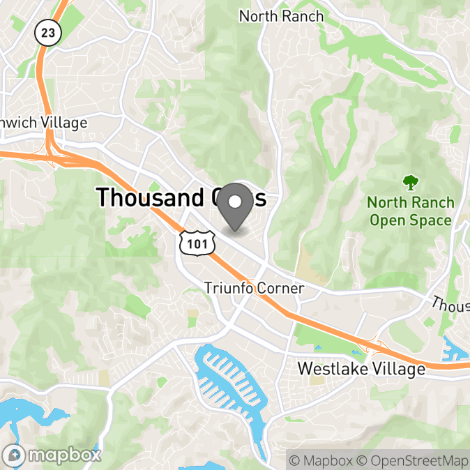 Map in Thousand Oaks, California for Brittney Henderson  therapy location.