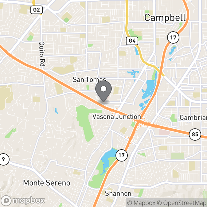 Map in Los Gatos, California for Madalina Coman therapy location.