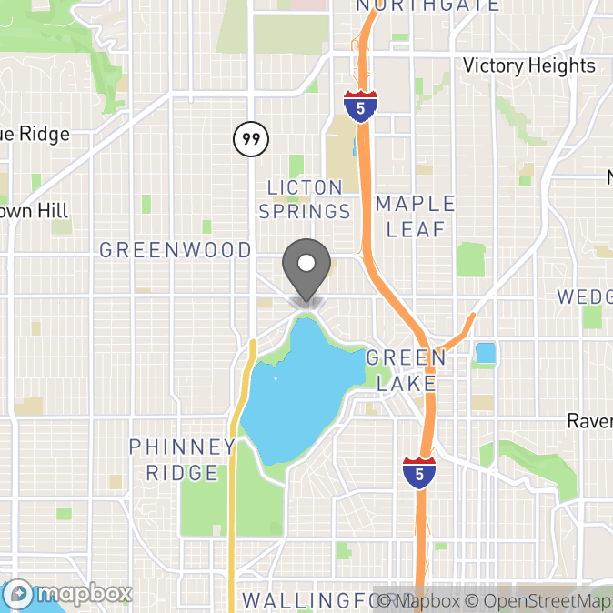 Map in Seattle, Washington for Brittany  Casavant  therapy location.