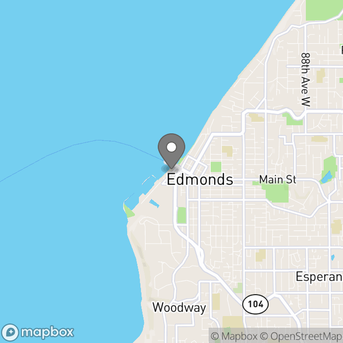 Map in Edmonds, Washington for Becky Robbins therapy location.