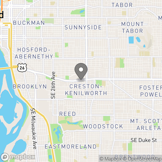 Map in Portland, Oregon for Leslie YEARGERS therapy location.