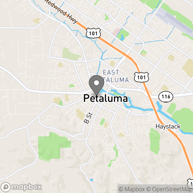 Map in Petaluma, California for Nobuko Hattori therapy location.