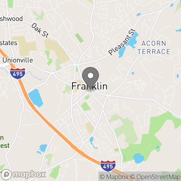Map in Franklin, Massachusetts for Tatiana Szulc therapy location.