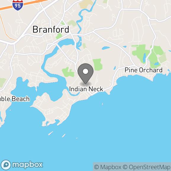 Map in Branford, Connecticut for Debra Gottschalk therapy location.