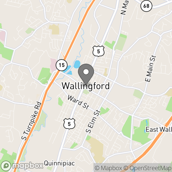 Map in Wallingford, Connecticut for Rebecca Carr, NCC, LPC, PMH-C therapy location.