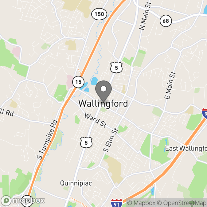 Map in Wallingford, Connecticut for Rebecca Carr, MS, NCC, LPC, PMH-C therapy location.