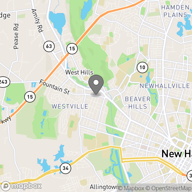 Map in New Haven, Connecticut for Sandra  Gibson  therapy location.