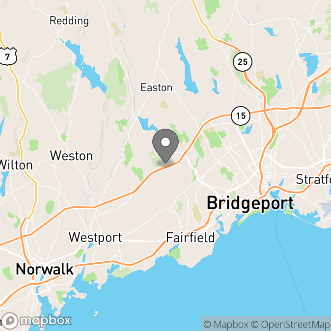 Map in Fairfield, Connecticut for SCHUYLER MANHATTAN therapy location.