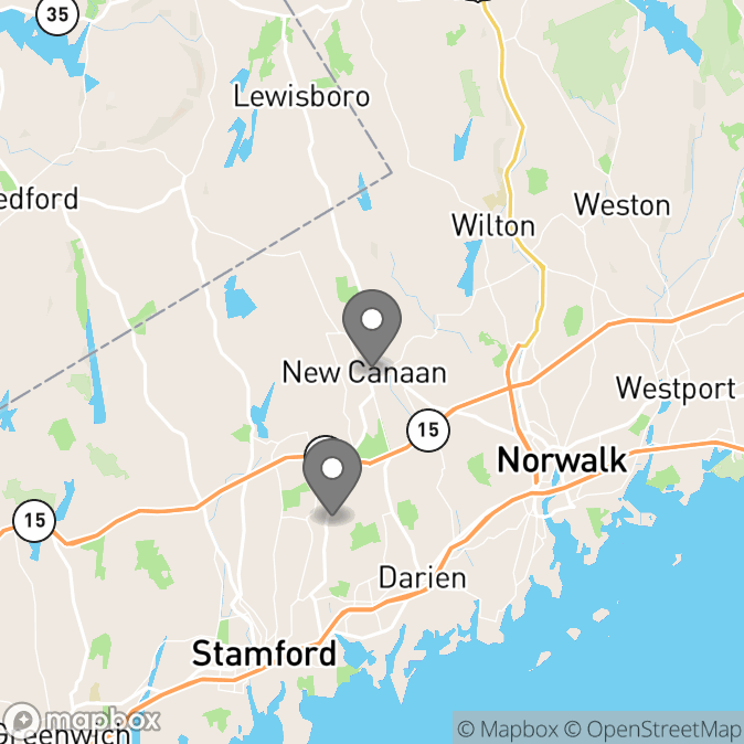 Map in Darien, Connecticut for Denese Marshall therapy location.