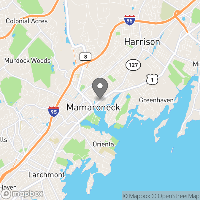 Map in Mamaroneck, New York for Lauren N Perez therapy location.